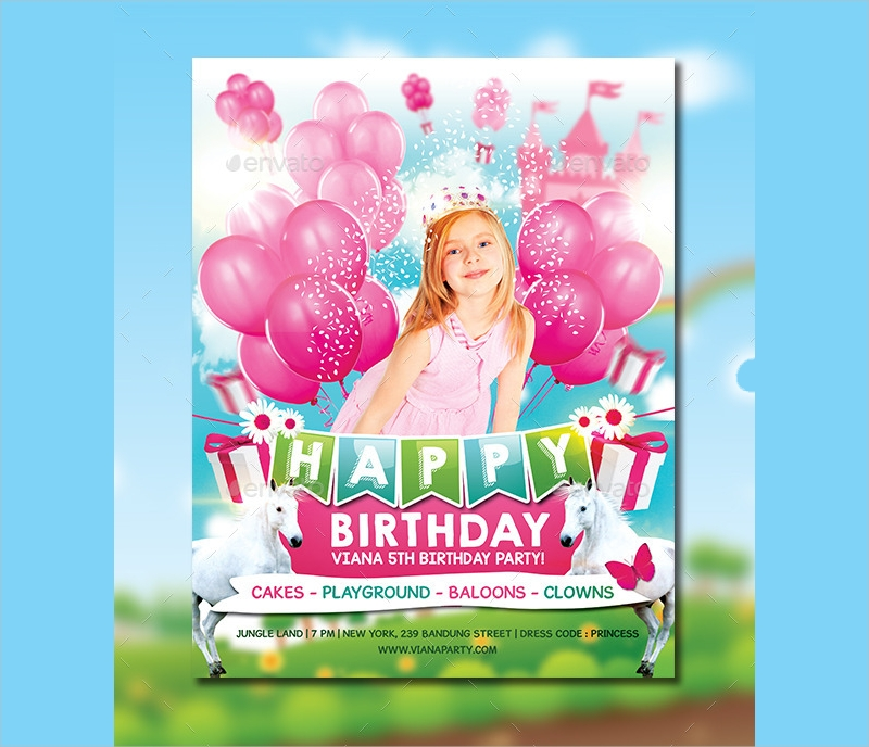 girls birthday party invitation