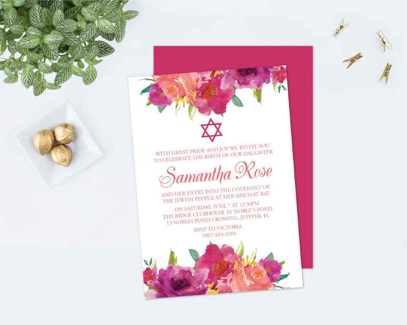 girls naming day ceremony invitation