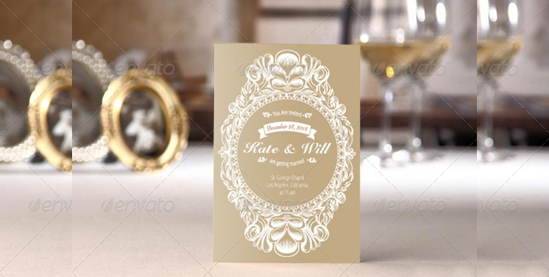 gold wedding invitation package1