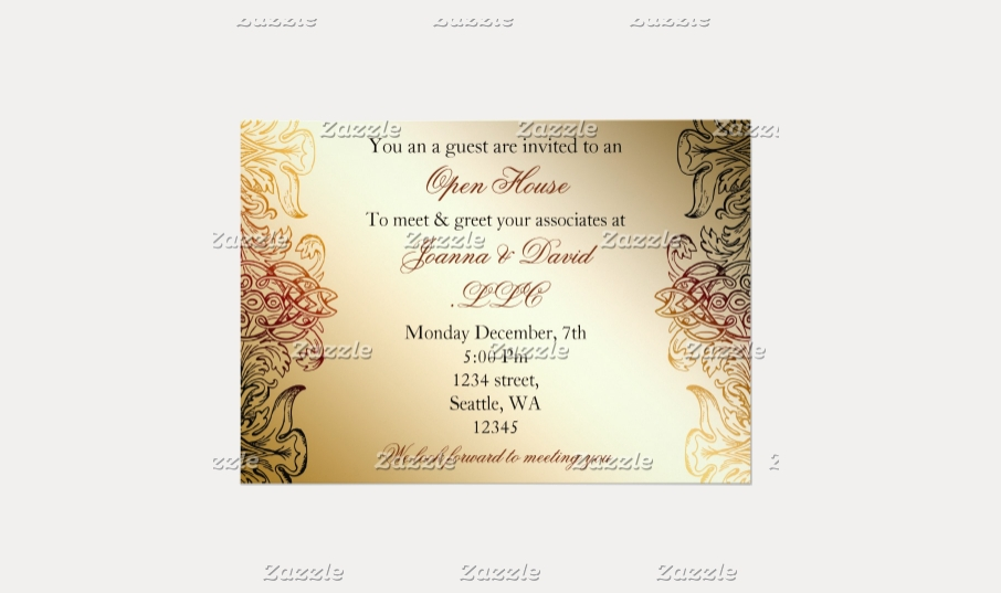 golden elegant corporate party invitation