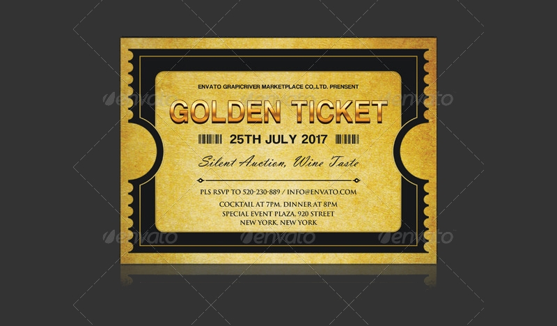 golden ticket corporate invitation