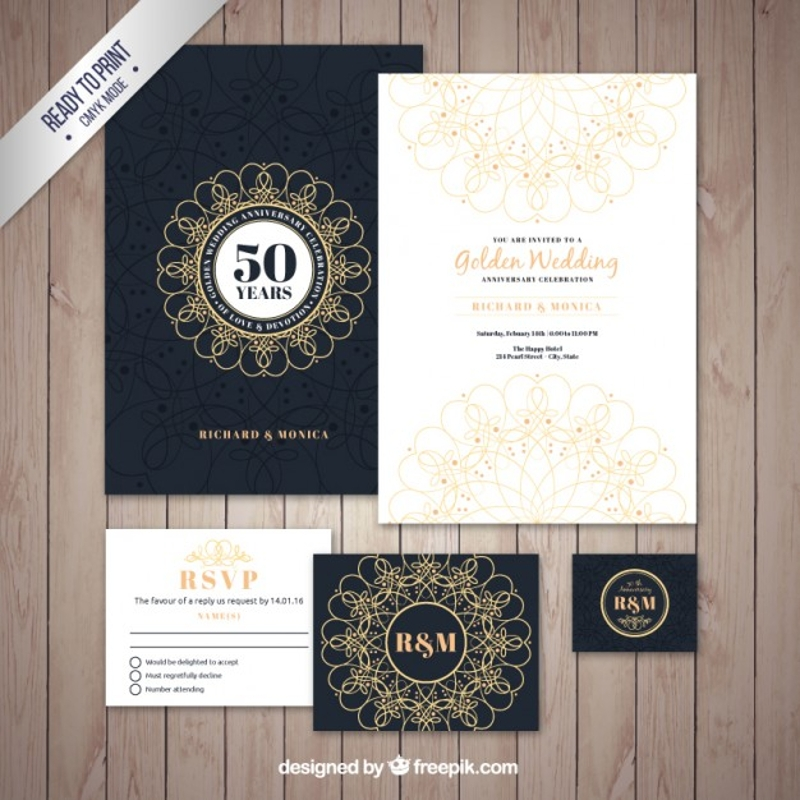 golden wedding brochure