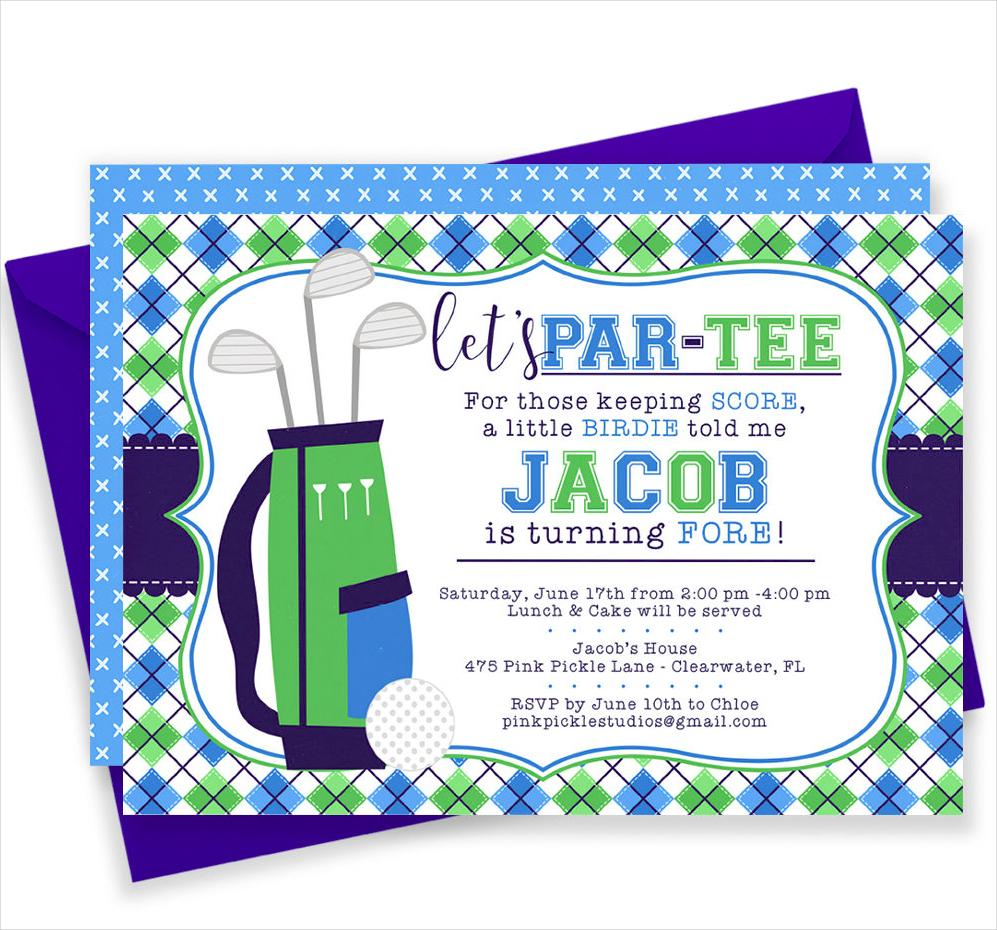 golf birthday invitation1