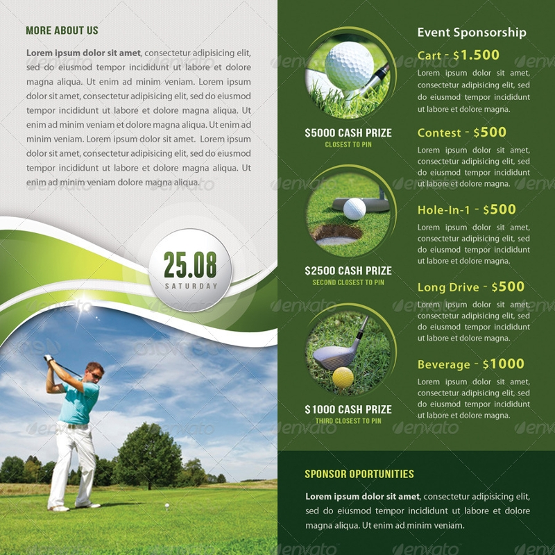 golf cup event bifold brochure