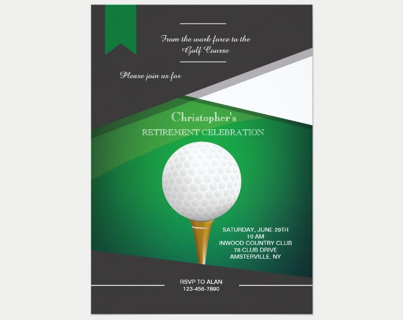 golf green party invitation
