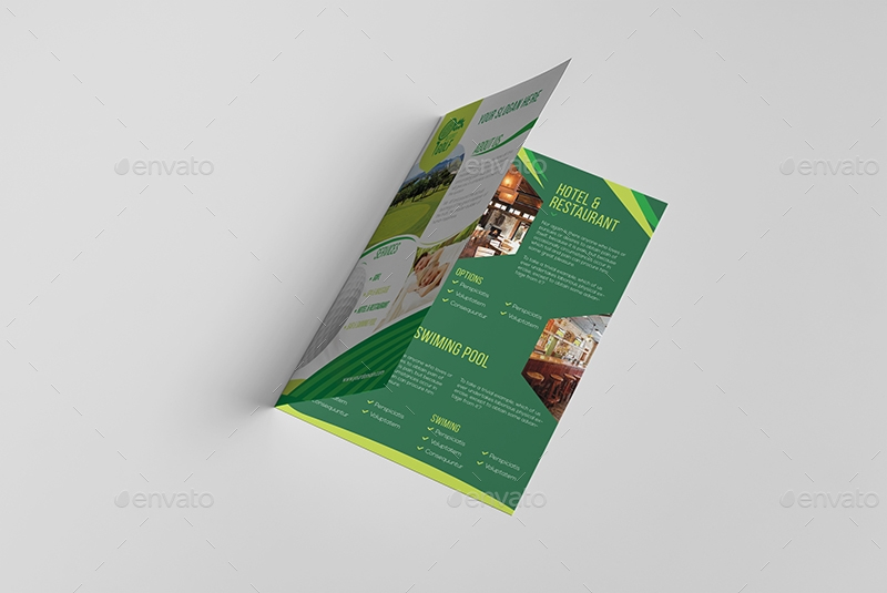 golf resort a5 brochure template