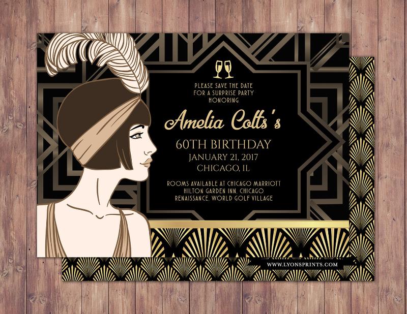 great gatsby party invitation