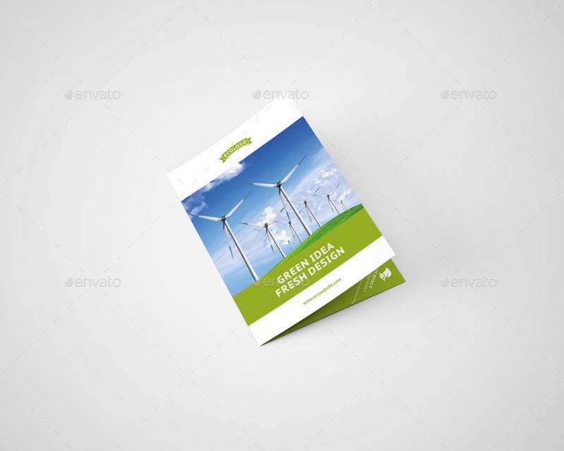 green environmental bifold brochure