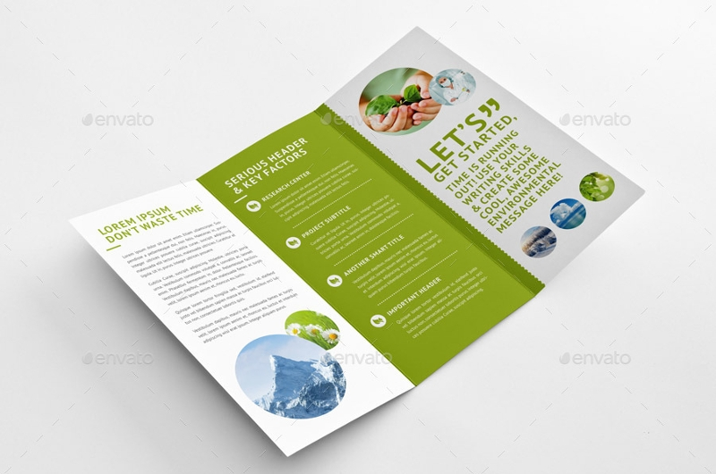 green environmental trifold brochure
