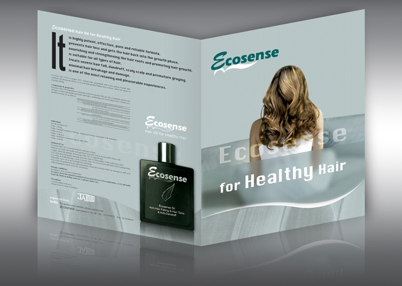 hair oil product brochure design