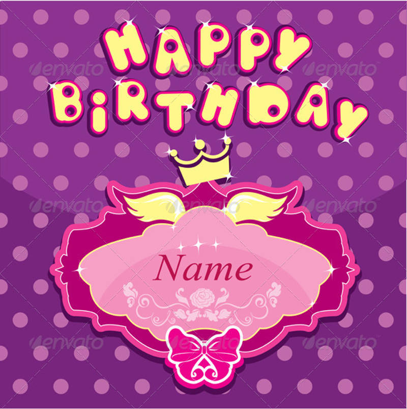 happy birthday invitation card for girl