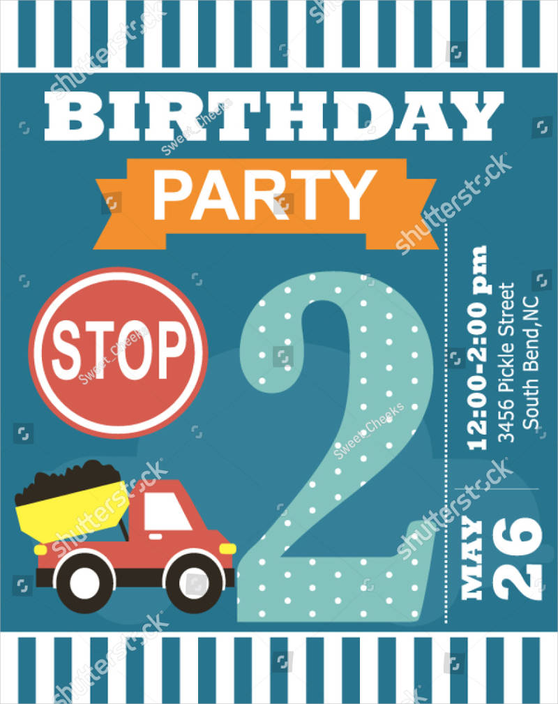 happy birthday invitation card2