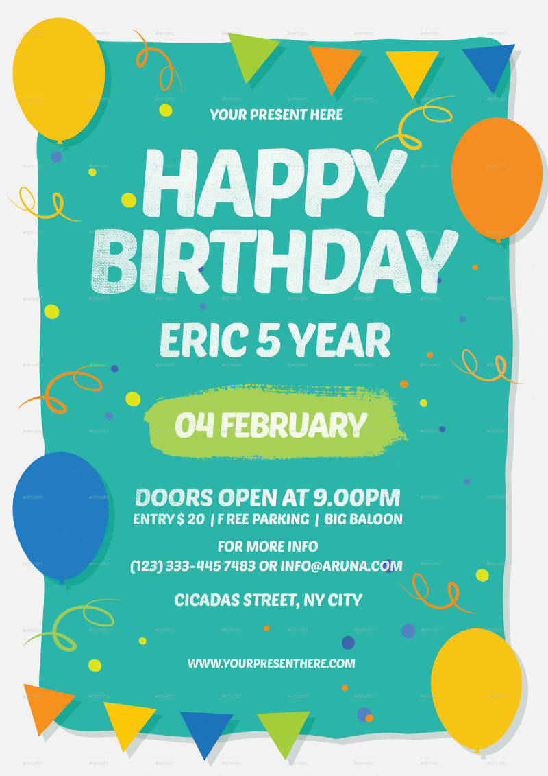 happy birthday invitation design