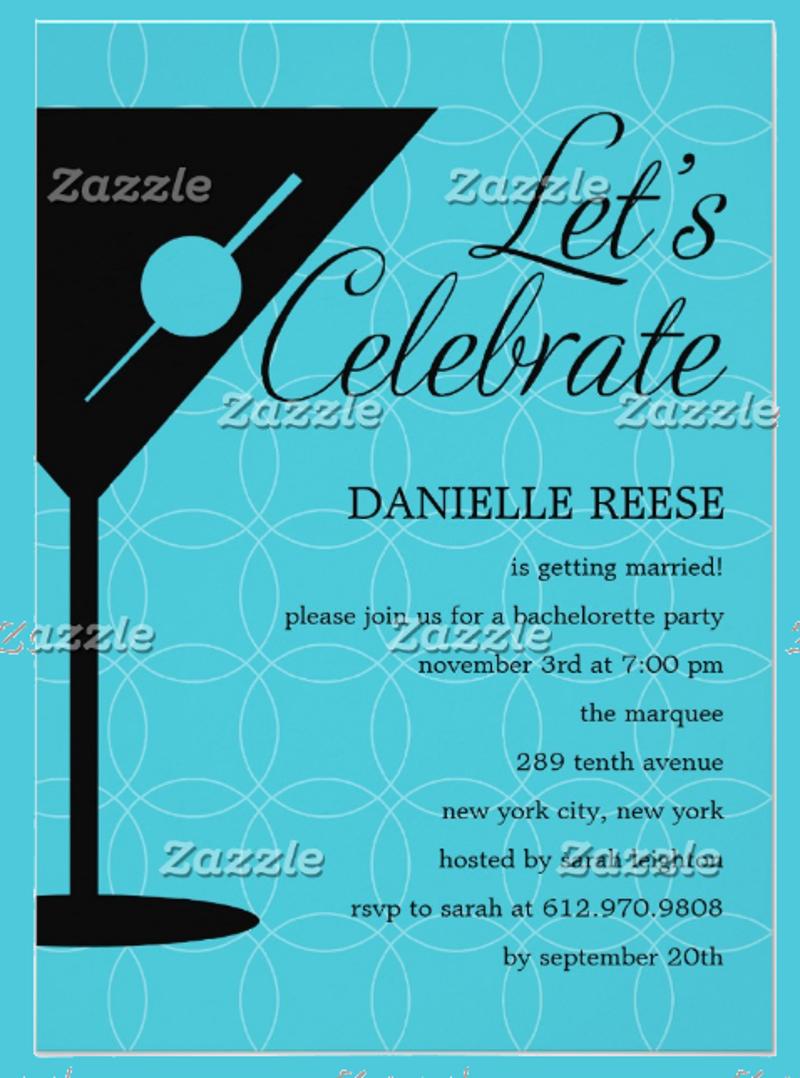 happy hour bachelorette invitation