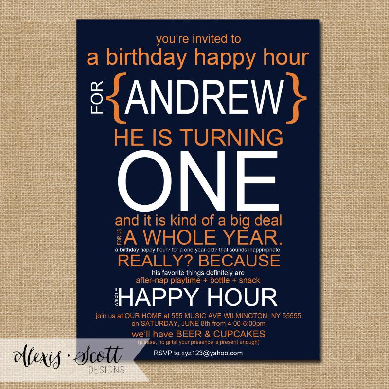 happy hour birthday invitation