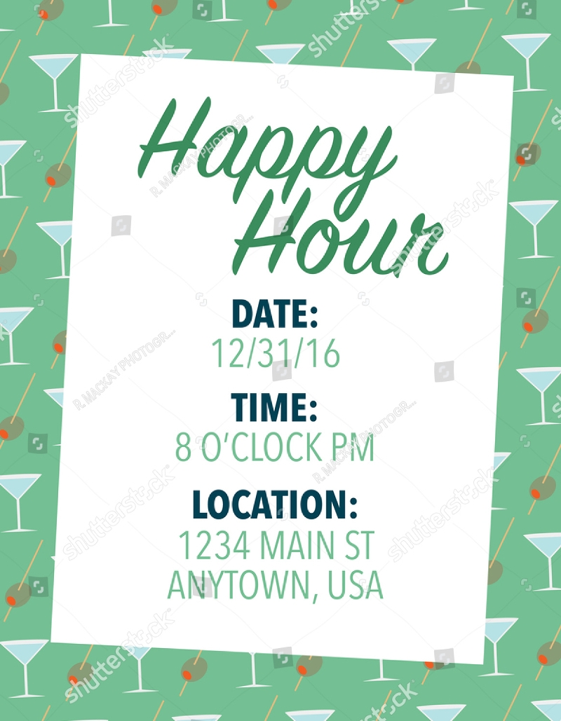 Free 15 Happy Hour Invitation Designs Examples In Psd Ai