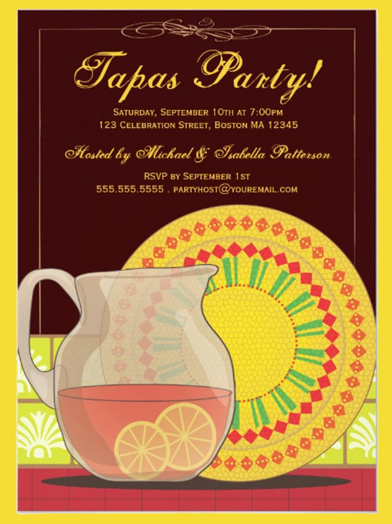 happy hour party invitation design