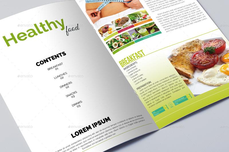 healthy diet food brochure