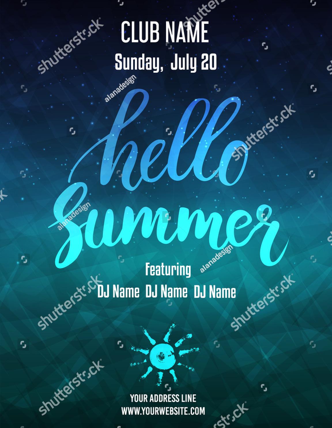hello summer party invitation