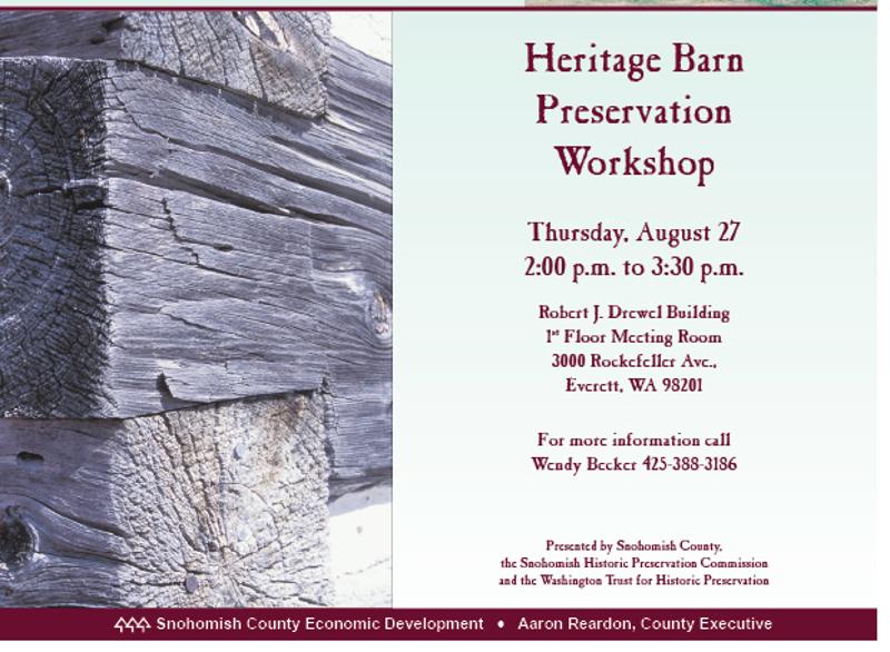 heritage barn workshop invitation