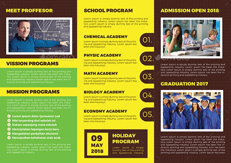 high school trifold brochure