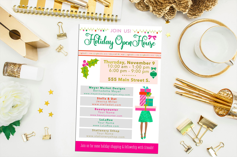 holiday open house invitation1