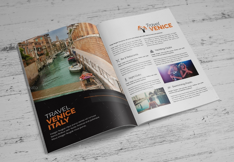 holiday travel brochure