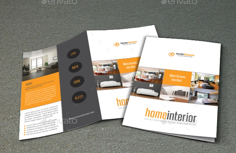home interior brochure design