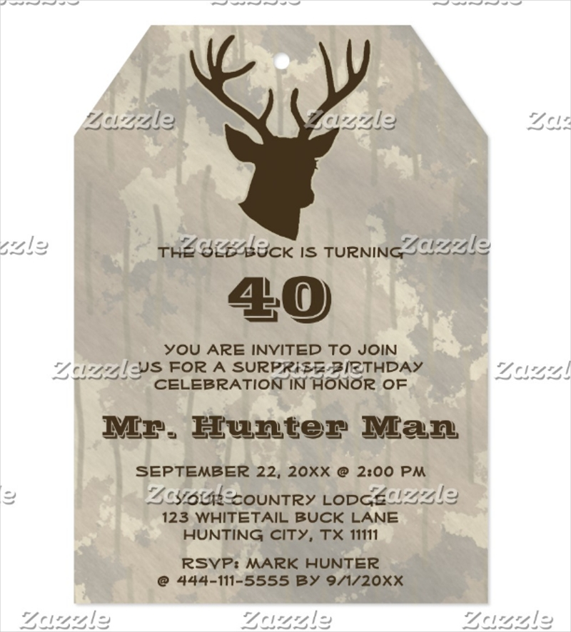 hunting mens buck animal birthday party funny