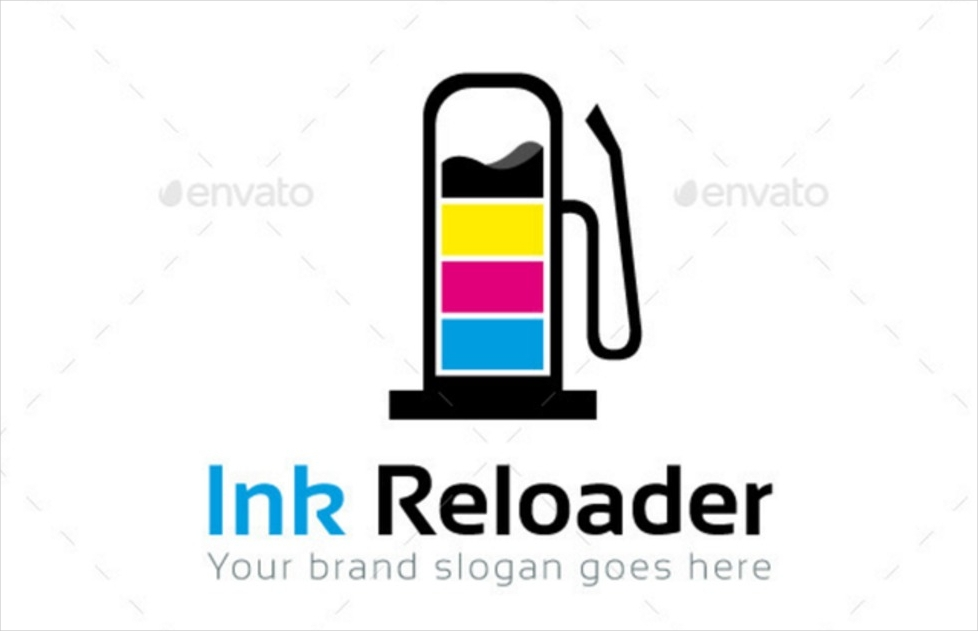 ink services logo template