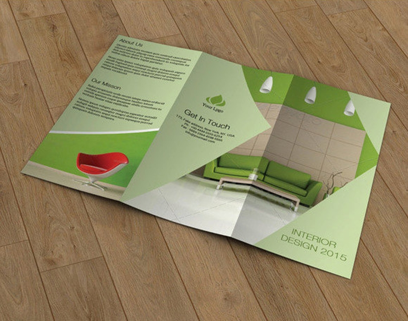 interior design brochure design template