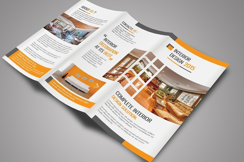 interior tri fold brochure design