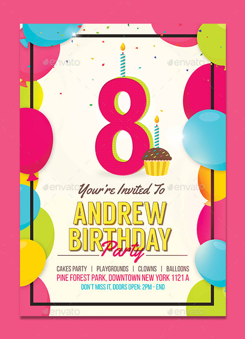 kids birthday invitation design download