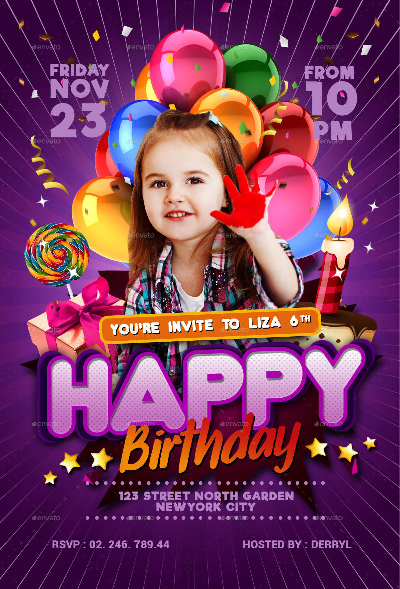 kids birthday invitation2