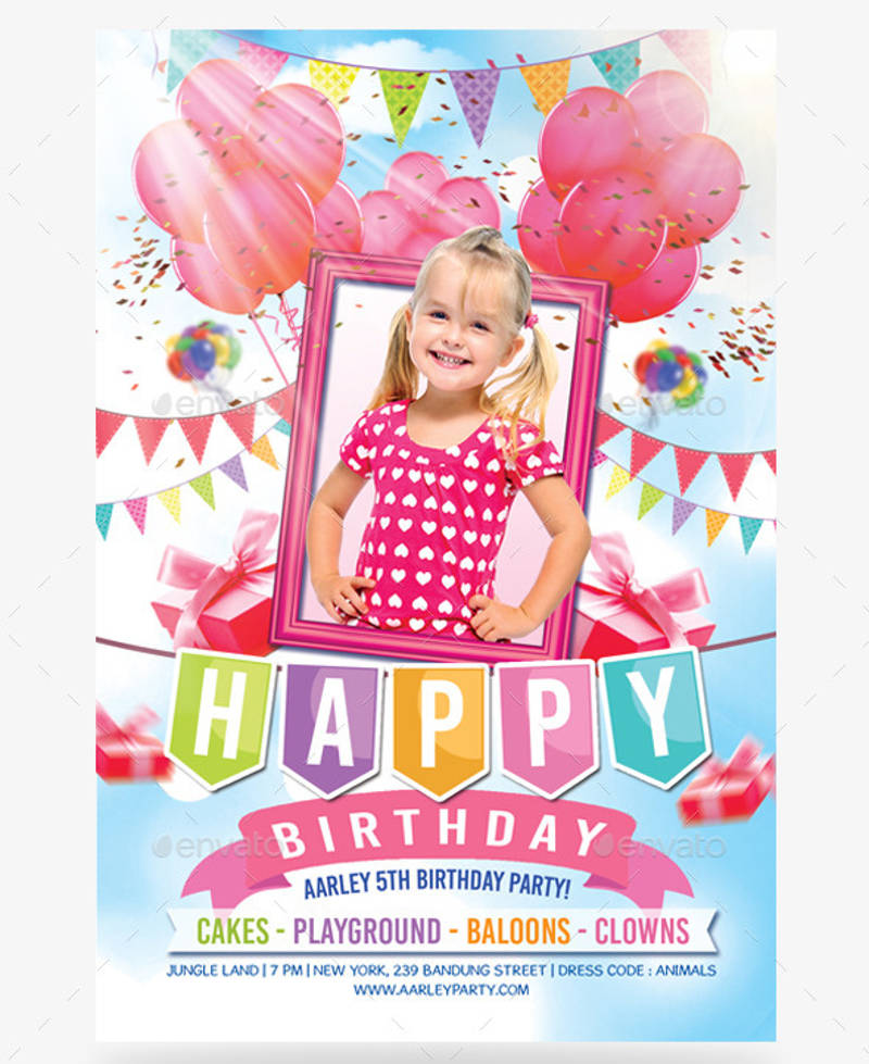 kids birthday party invitation boy girl