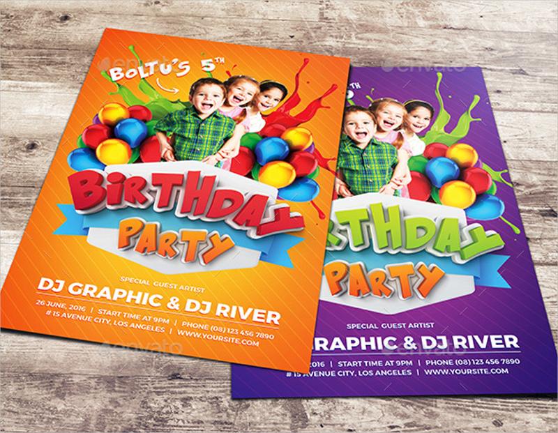 kids birthday party invitation4