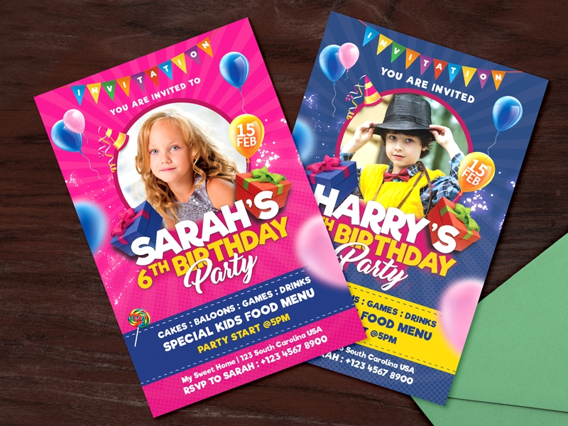 kids birthday party invitation6