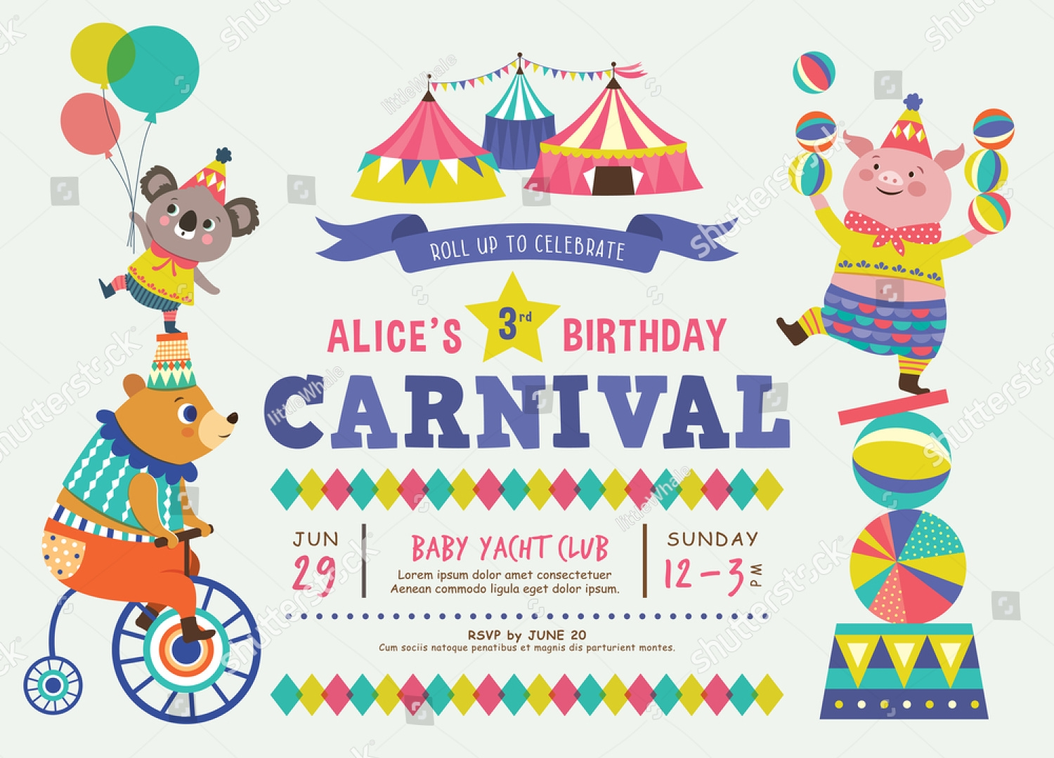 14+ Circus Invitation Designs and Examples – PSD, AI