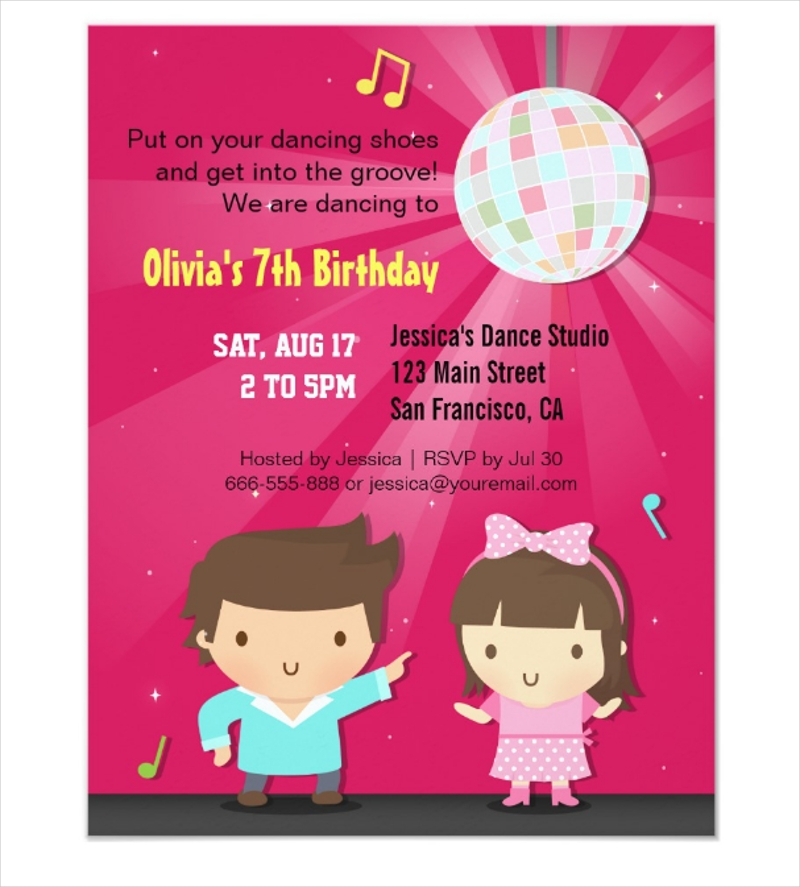kids disco ball groove dance birthday party