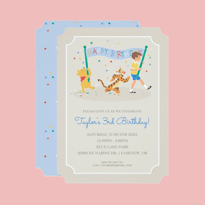 kids happy birthday celebrate invitation design