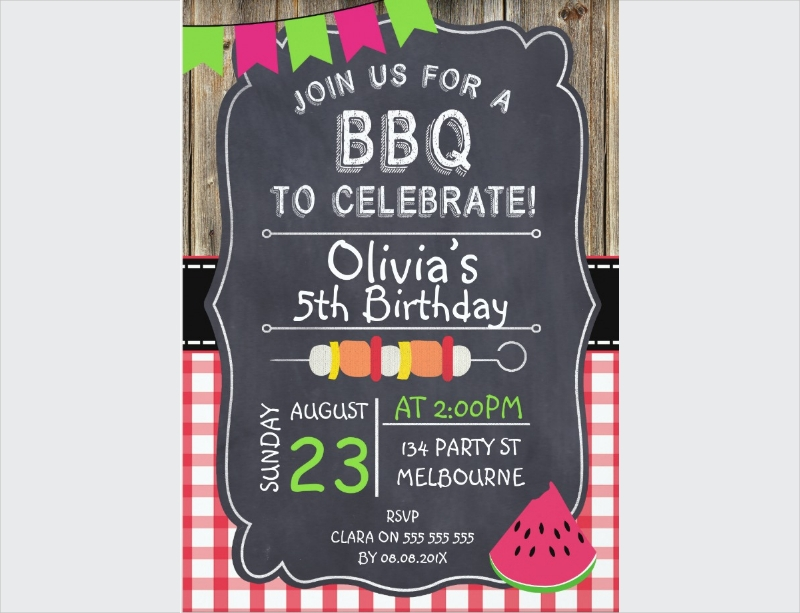 kids bbq party invitation