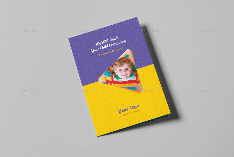 kindergarten bi fold brochure