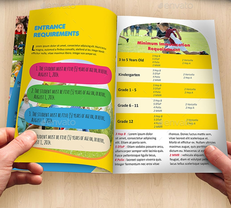 kindergarten enrollment brochure