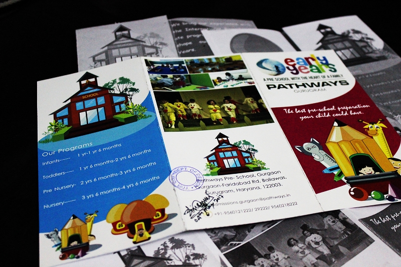 kindergarten school brochure design