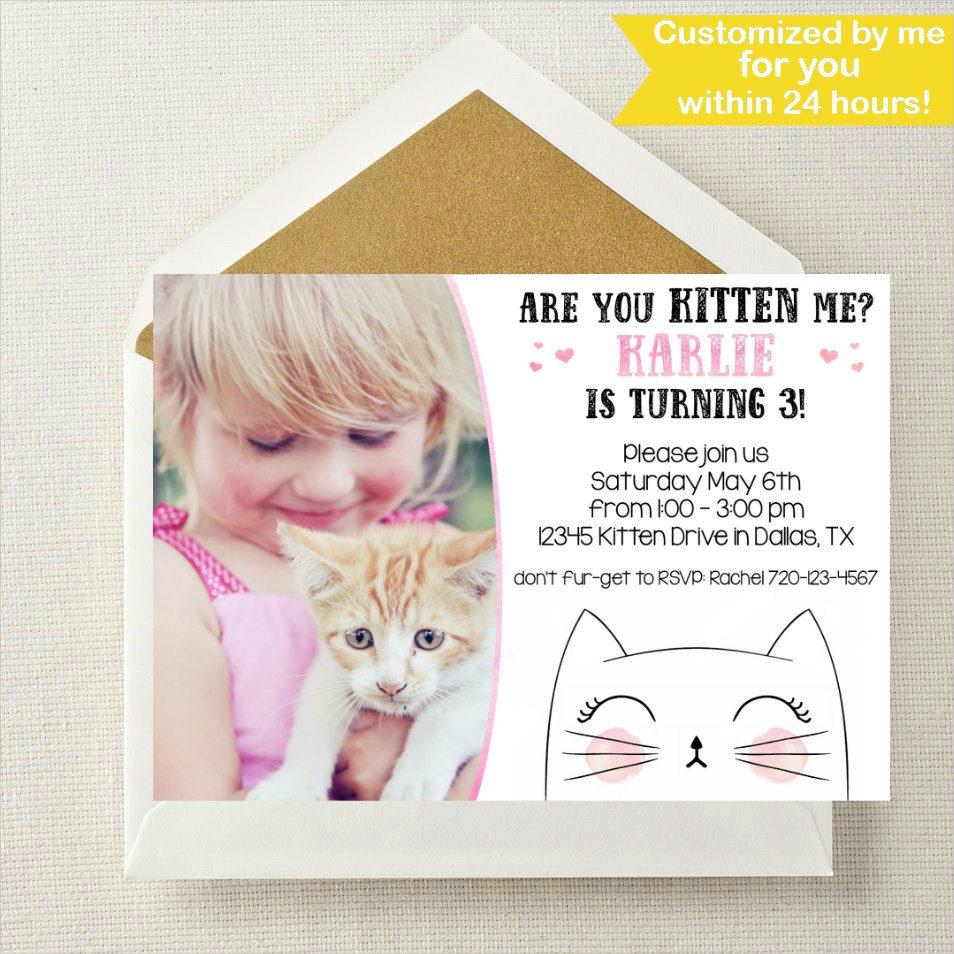 kitten photo invitation1