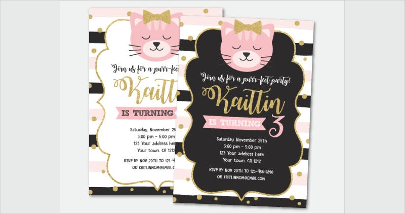kitty adoption party invitation1