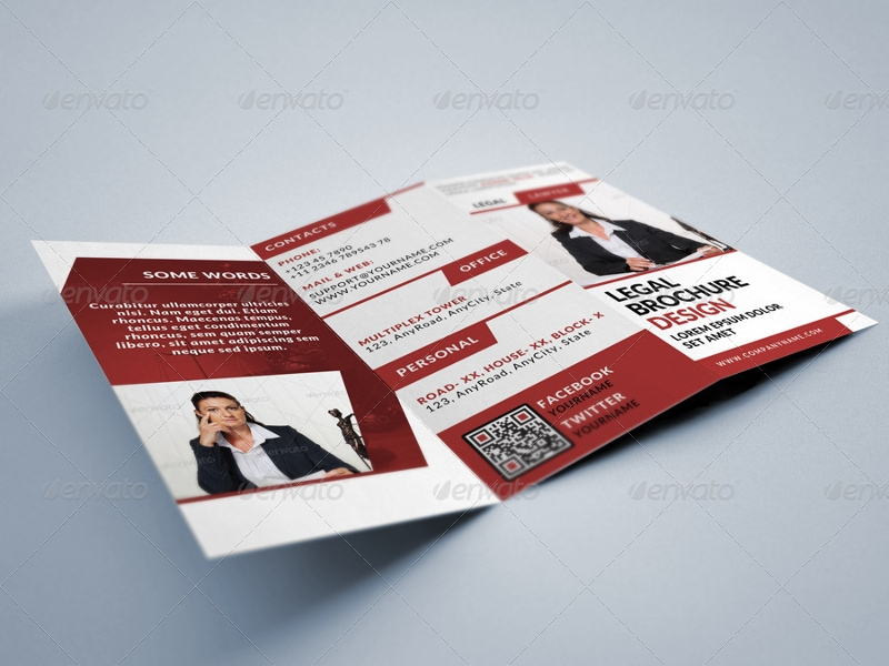 lawyer legal consultancy tri fold brochure