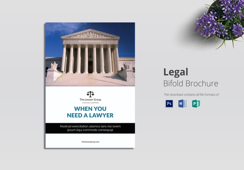 legal brochure bi fold template