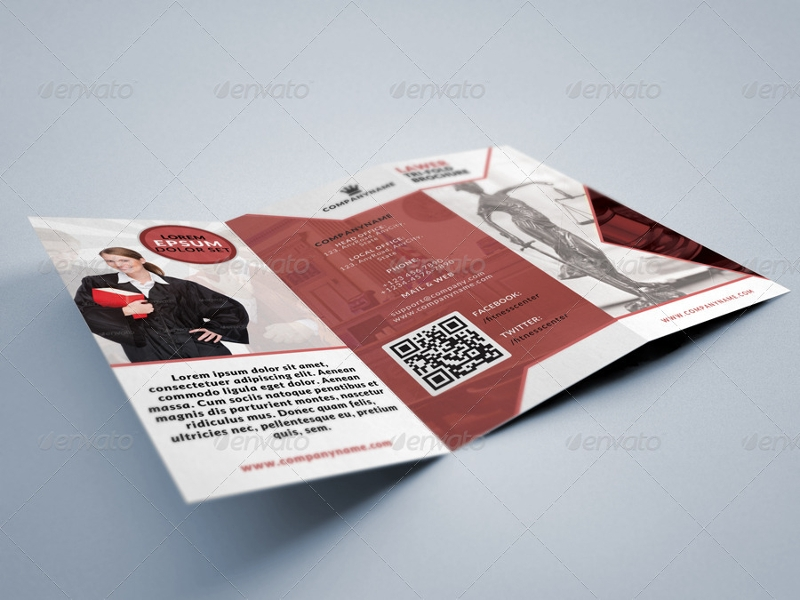 legal consultancy tri fold brochure