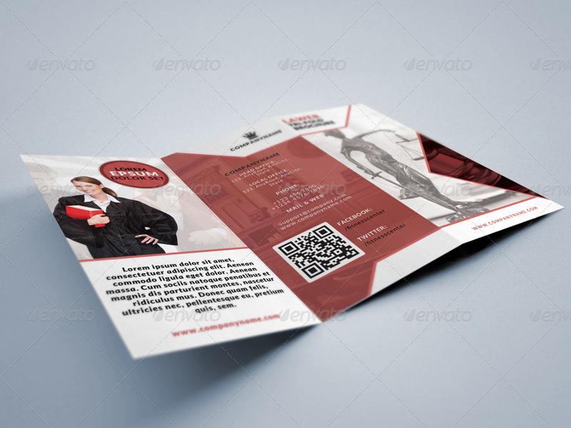 legal consultancy tri fold brochure